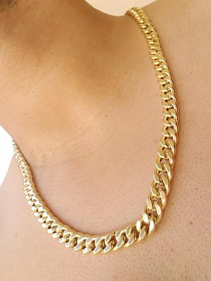 Corrente Ouro 18k Grosso Grumet 60cm + 1 Brinde