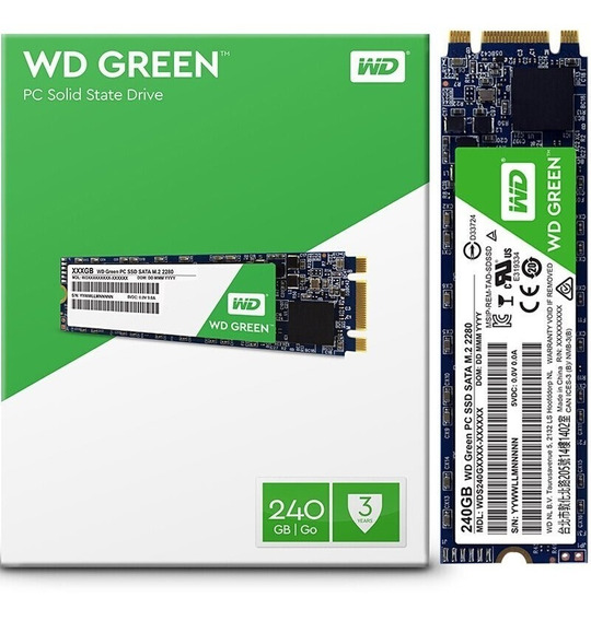 Hd Ssd M.2 2280 Sata 240gb Wd Green 6gb Gamer/note/pc