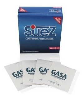 Gasa Esteril Suez 10 X 10pack X 10 Cajas