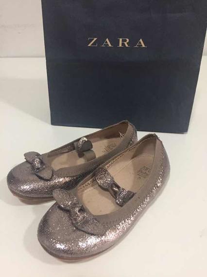 Zapatos Dorados De Fiesta Niña Talle 25