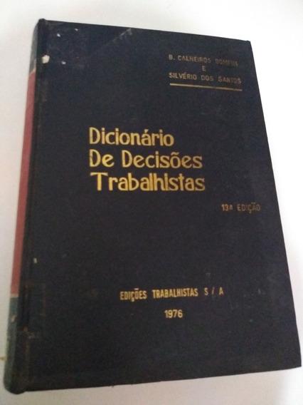 Dicionario De Decisoes Trabalhistas