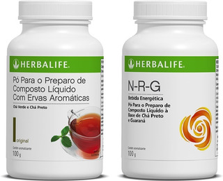 Chá Verde Herbalife 100g (chá 2) + Nrg 100g (chá 1) - Produto Original