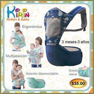 Kirin Canguro Para Bebe Ergonomico Ortopedico Con Asiento