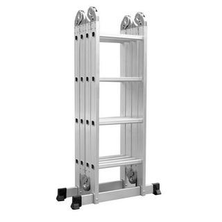 Escalera Aluminio Plegable Multifuncion 4.73 M 16 Escalones