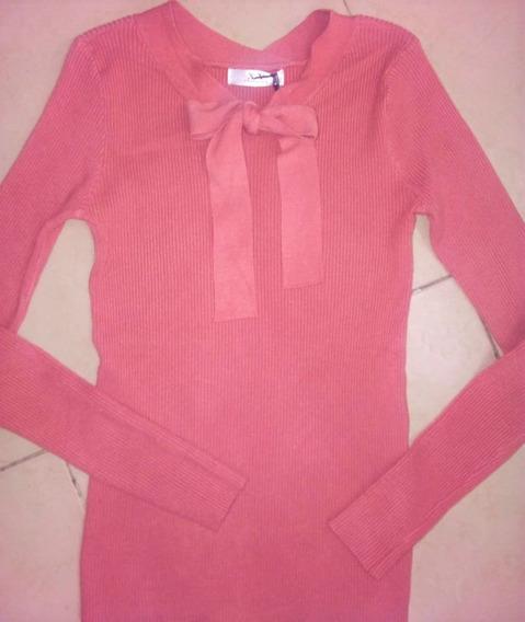 Sueter Cool Con Moño Para Dama De Color Rosa