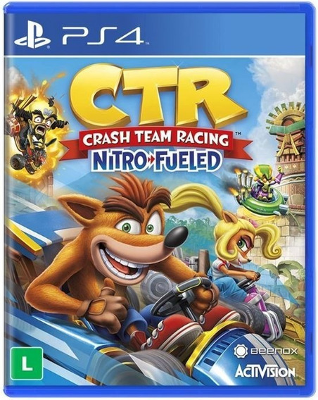 Crash Team Racing Nitro Fueled Ctr Ps4 - Jogo Mídia Física