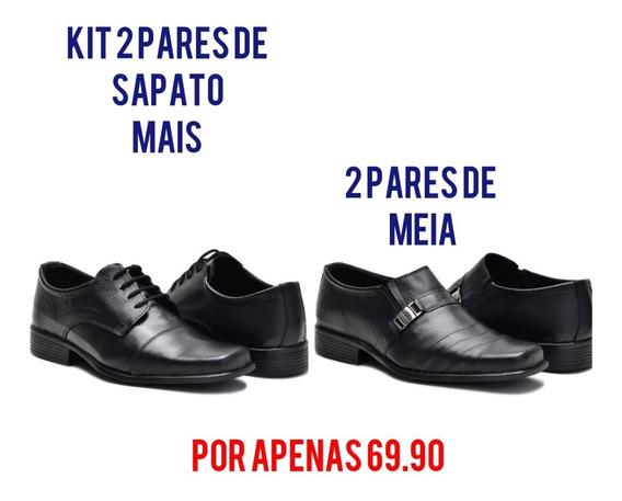 Kit De Sapato Social Promoçao Dia Dos Pais Pronta Entrega