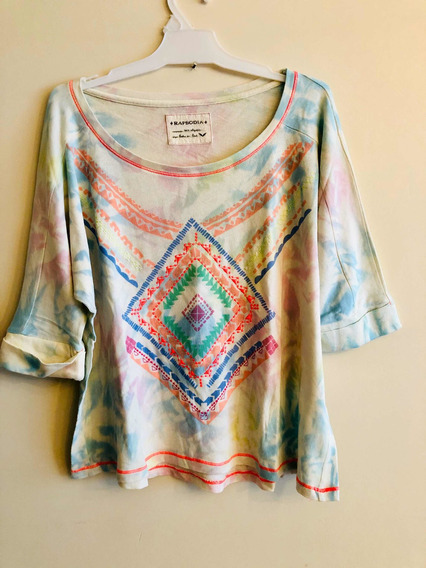 Remera Mujer Rapsodia Batik Colores