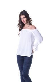 ecd9c4f75b Blusa Broderi Branca Linda!!!! Ciganinha - Blusas Manga Longa para ...