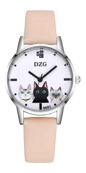 Relógio De Pulso Analógico Gatinhos Parcelado Sem Juros