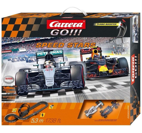 Imagen 1 de 4 de Pista Slot Carrera Go!!! Speed Stars 5.3m - Escala 1/43
