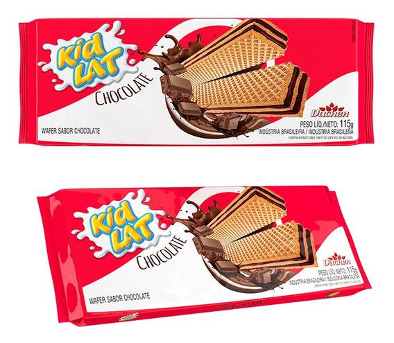 Bolacha Wafer Chocolate Kidlat Caixa 115g 1 Unidade