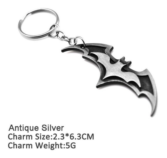 Chaveiro Logo Batman Dc Original Dark Metal