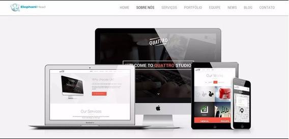 Script Php Quattro Site + Blog + Admin Responsivo Institucio