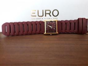 Relógio Feminino Euro - Pulseira Couro Marrom