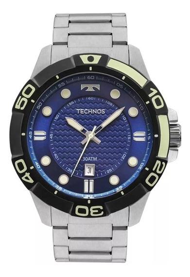 Relógio Masculino Technos Acqua 2315kzq/0a - Prata/preto