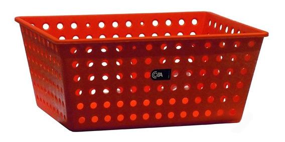 Canasto Caja Organizador Plastico Acanalado 29 Cm Palermo