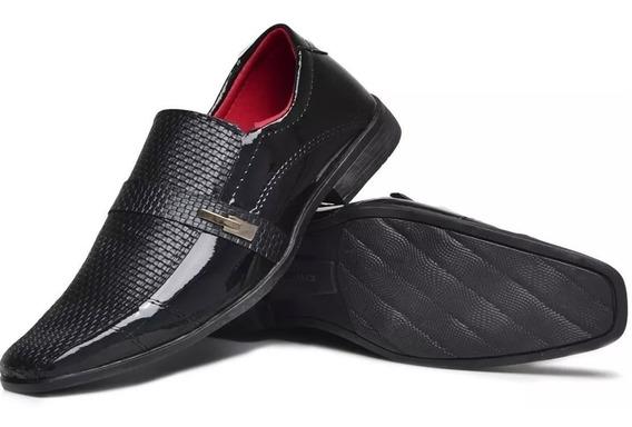 Sapato Verniz Social+terno Slim Moderno 4 Cores Elegantes