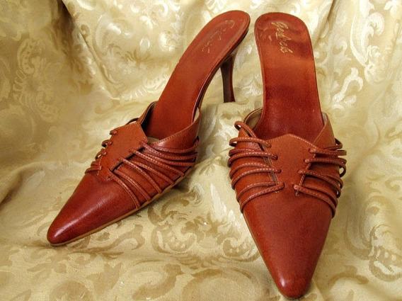 Sapato Mule Em Couro