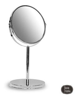 Espejo Maquillaje Barba Con Aumento De Mesa Chico Zoom X 5
