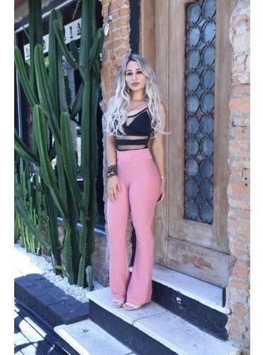 Calca Flare Cintura Alta Feminina 2019