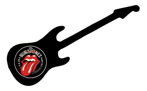 Rolling Stones Guitarra  Adorno Para La Pared  En Madera ,