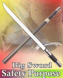 Bastão Faca Metal Espada-3 Em 1 - Baioneta - C/fio Com Nfe