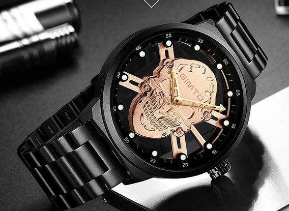 Relógio Esqueleto Caveira Gimto Original