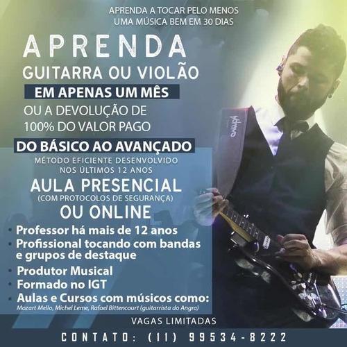 Imagem 1 de 1 de Aprenda Violão Ou Guitarra Em 1 Mês!!!