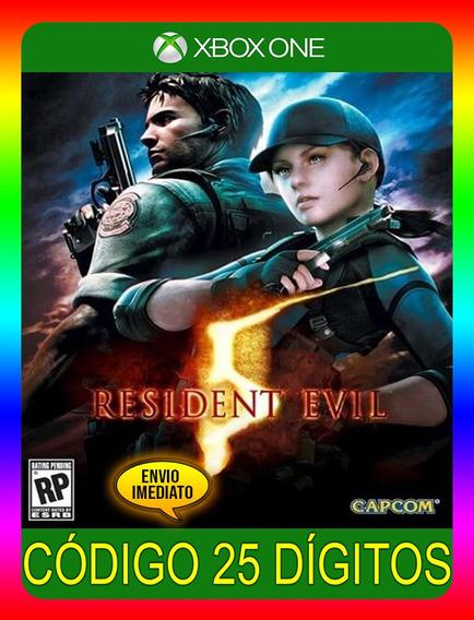 Resident Evil 5 Pt Br Xbox One - 25 Dígitos (envio Já)