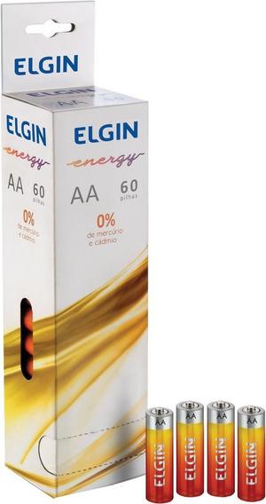 Pilhas De Zinco Comum Aa Tubo C/60 82185 Elgin