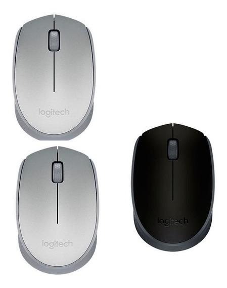 2 Mouses S/fio Logitech M170 Prata + Mouse M170 Preto