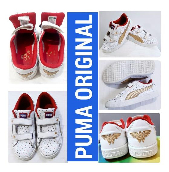 Tenis Sapato Feminino Infantil Mulher Maravilha Puma Oferta,