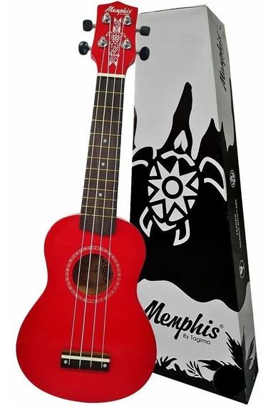 Ukulele Soprano Memphis Honu Vermelho By Tagima Colors Nf