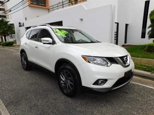 Nissan Rogue 2016 Full Clean Panoramica 4x4 Piel