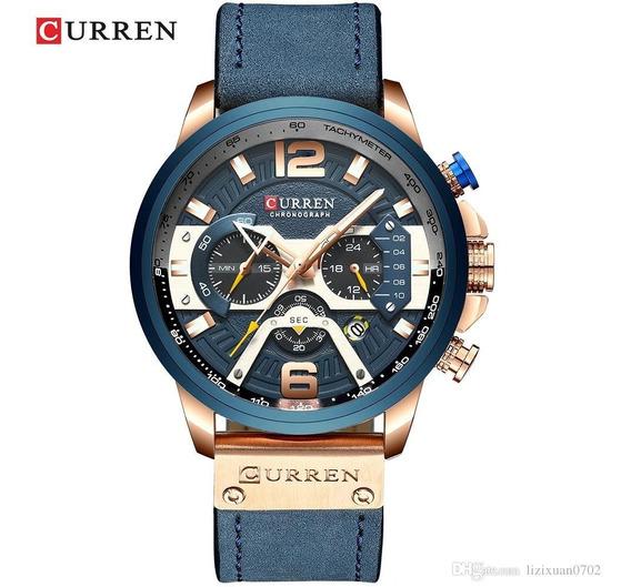 Relógio Curren 8329 Sport Analógico 4 Ponteiros Funcional