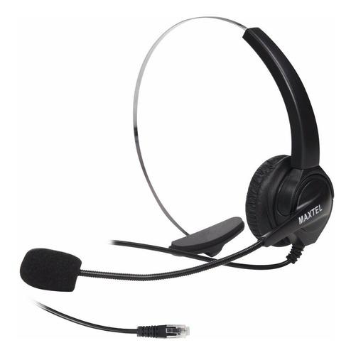 Imagem 1 de 4 de Fone Headset Telefone Fixo Fio Maxtel Rj11 Telemarketing