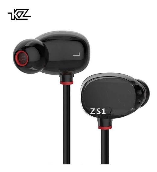 Fone Kz Zs1 Dual Drive Baixo Pesado Retorno + P10, Case