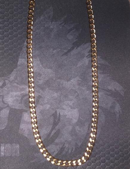 Collar Cadena Caballero 9 Mm Acero Inoxidable Dorado Gruesa
