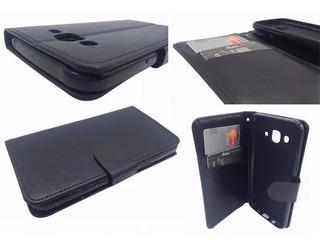 Capa Carteira Protetora Preta Galaxy J7 Neo Com Porta Cartão