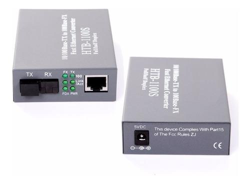 Transceiver Optico Ethernet 10/100 Pareja A-b Monomodo 25km