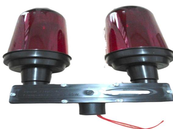 Kit 2 Baliza Sinalizador Duplo C/led E Foto Telecomunicação