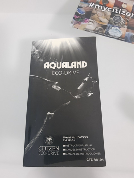 Citizen Aqualand Jv00** Manual Meia Lua