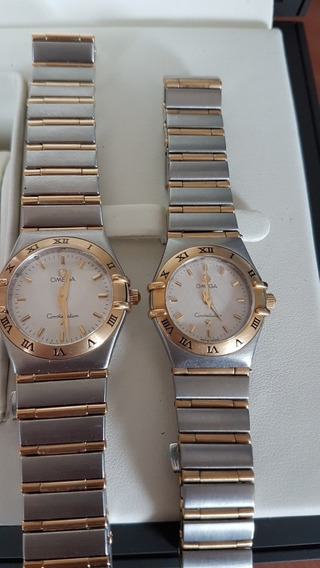 Reloj Omega Constellation Para Dama Acero Y Bisel Oro Quartz