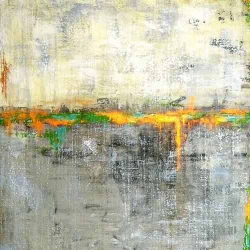 Cuadro Abstracto Pintado A Mano