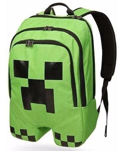 Mochila Minecraft Creeper Original Escolar Infantil.