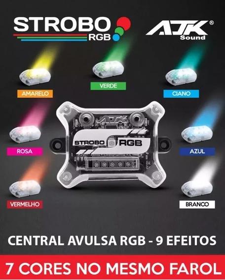 Central De Efeitos Avulsa Ajk Rgb - P/ Strobos + Controle Ir