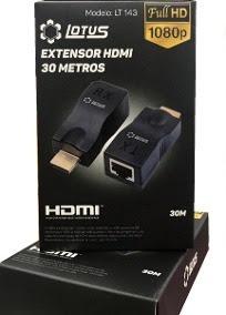 Extensor Hdmi 30m Via Rj45 Cat5e/6 Lótus