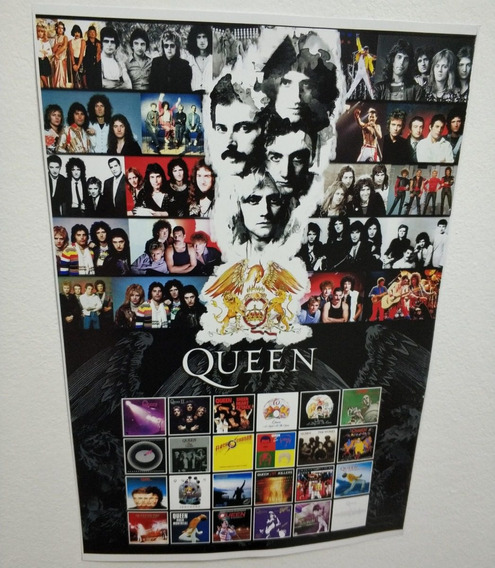 Poster Queen Banda Queen Vinil Queen Cartaz Coleção Queen
