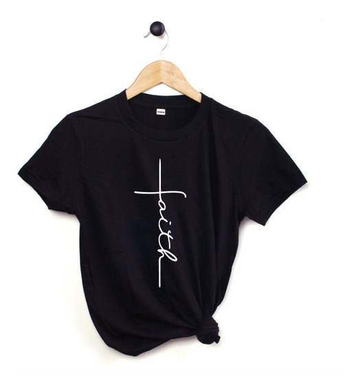 Blusa Playera Camiseta Dama Faith Cruz Fe Elite #509n